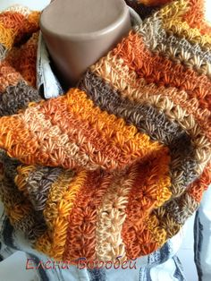 The original #scarf tube, bright and fashionable accessory. Can be worn instead of a hat. Incredibly soft and gentle scarf hand knit. It's a great thing will delight you alw... #crochet #handmade
