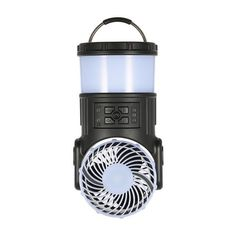 Thrisdar Multi Functional Outdoor Lantern Tent Camping Lamp Rechargeable Emergency Light Fan Radio Speaker mosquito Repellent