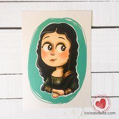 """Print """"Mona Lisa"""", releitura de obra clássica.  Enviamos para todo Brasil via carta registrada"""