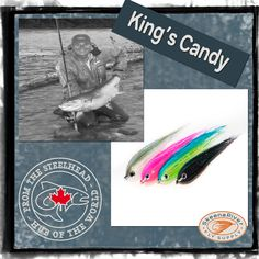 King's Candy Chinook Tube Flies - balanced Snowrunner tube flies, designed with passion and expertise from the heart of the Skeena region.  #flies #sales #chinooksalmon #kingsalmon #flyfishing #flytying Fly Fishing Shop, Color Fly, King Salmon, Fish Patterns, Fly Tying, Tube, Passion, Colours, Candy