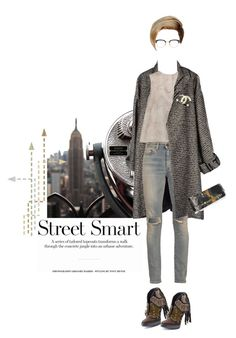 """""""Distressed"""" by aivvva ❤ liked on Polyvore featuring Jean-Paul Gaultier, Giambattista Valli, Yves Saint Laurent, Burberry, Gucci, Chanel, Thom Browne, women's clothing, women and female"""