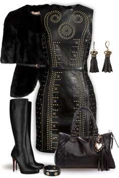 """Just Black"" by yasminasdream ❤ liked on Polyvore"