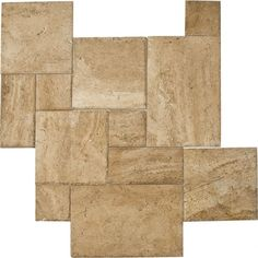 "Available to order directly from BV Tile & Stone. Contact us today (714) 772-7020. Retail and Wholesale. Travertine 4sz. Pattern Sets Light Walnut 8""x8"" - 8""x16"" - 16""x16"" - 16""x24"""
