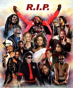 We've lost so many great people in the music world! Rest In Peace Girl Bands, Boy Band, Black Love Art, Black Girl Art, Famous Black People, Black Art Pictures, Black Celebrities, Celebs, Caricatures