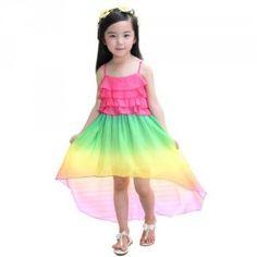 vestido-colorido Ballet Skirt, Summer Dresses, Skirts, Ideas, Fashion, Kids Fashion, Girls Short Dresses, Asymmetrical Dress, Prom Dresses For Girls