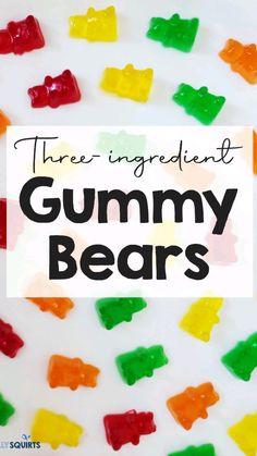Making Gummy Bears, Homemade Gummy Bears, Homemade Gummies, Jello Recipes, Fun Baking Recipes, Snack Recipes, Gummy Bear Recipe With Jello, Jello Gummies Recipe
