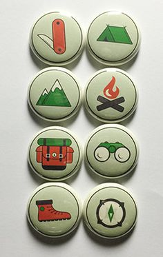 Camp Out 1 Flair by aflairforbuttons on Etsy