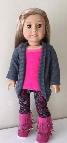Melody Jane Dolls House Modern Girl/'s Outfit Purple Jumper White Leggings