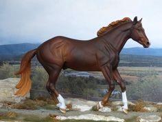 CM CUSTOM TRADITIONAL BREYER HARLEY D ZI PAINTED TO A DAPPLED LIVER CHESTNUT