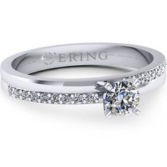 Inelul este realizat din aur alb 14k, greutate: ~3.00gr.                                    Produsul are in componenta sa: 1 x diamant, dimensiune: ~4.00mm, greutate: 0.25ct , culoare: G, claritate: VS2, forma: round 18 x diamant, dimensiune: ~1.30mm, greutate totala: ~0.18ct, culoare: G, claritate: SI1, forma: round