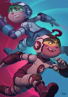 Mas y Menos - Teen Titans by Dylean.deviantart.com on @DeviantArt