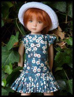 Pauline en  robe de Magda