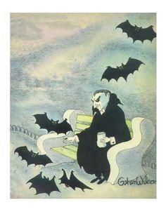 Dracula and bats Gahan Wilson giclee print. by GahanWilsonGallery, $25.00
