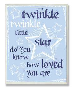 Blue Twinkle Twinkle Star Wall Art