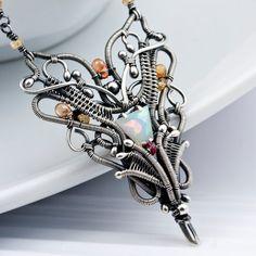 Welo Ethiopian Opal Necklace with Songea von sarahndippity auf Etsy