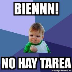 Meme Bebe Exitoso - biennn! no hay tarea - 225588