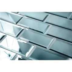 This beveled glass silver subway tile has a beautiful look and stunning design for your home. Shop these glass mirror backsplash tiles at Glass Tile Oasis! Peel Stick Backsplash, Subway Backsplash, Peel And Stick Tile, Stick On Tiles, Kitchen Backsplash, Backsplash Ideas, Lowes Backsplash, Kitchen Soffit, Rustic Backsplash