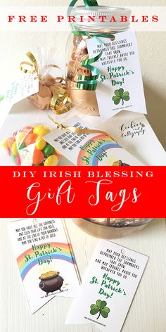 """DIY IRISH BLESSING GIFT TAGS + FREE PRINTABLES 