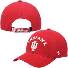 the latest f6e07 666be Zephyr Crimson Indiana Hoosiers NCAA Centerpiece Slouch Adjustable Hat
