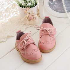 2015 NEW Kids Baby Toddler Girls  Soft Flat Genuine Leather Oxford Shoes  #Oxfords
