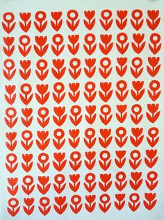 Screen printed Scandinavian style fabric by Jane Foster
