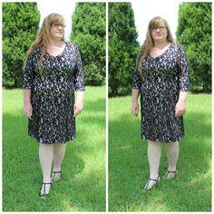 V-NECK LACE DRESS WITH BLUSH LINING #ShareMeGB #GwynnieBee