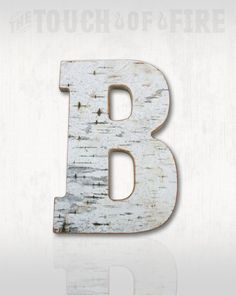 """Birch Bark Letter *Wedding Decor* Personalized Letter Rustic Home Decor 5"""" 9.5"""" or 13.5"""". Wood Letters"""