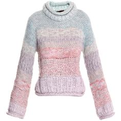 Missoni knitwear NUDE ($520) ❤ liked on Polyvore featuring tops, sweaters, shirts, outerwear, missoni, knitwear, nude, multi color sweater, alpaca wool sweater and colorful sweaters