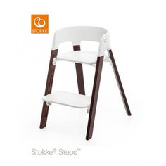 Stokke Steps Chair Walnut | JustKidding | The Stokke® Steps chair gives your child a comfortable, ergonomic seat to last for many years of use.