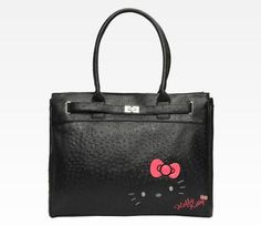 Hello Kitty Shoulder Tote  Ostrich - FAB -of course I would carry this. 05a2abcbdf