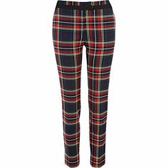 Red check smart trousers £35.00  Tartan love