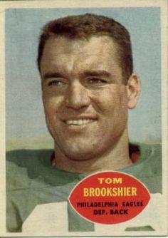 football cards     1959 jimmy brown | Tom Brookshier Philadelphia Eagles Defensive Back