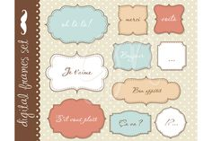 Check out Frames clip art with backgrounds by GraphicMarket on Creative Market