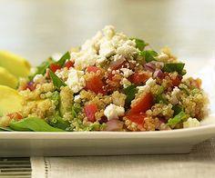 greek quinoa and avocados