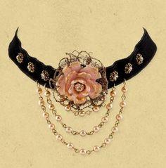 I found 'Beautiful Pink Flower Choker' on Wish, check it out!