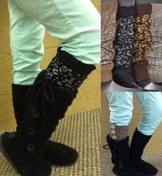 Cheetah Boot Socks