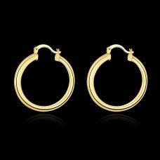 18k Gold Wide Hoop Earrings 3.4cm