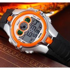 Montre Enfant Quartz-Kids Fashion Sport-Chrono Watch  avec un excellent rapport qualité/prix  Fonctions: Chrono,LED coloré,Alarme,Calendrier,..
