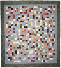 "Square Dance Quilt 84"" x 93""    Would like different colors, but what a great way to use scraps!"