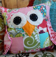 the vintage umbrella: baby owl pillow
