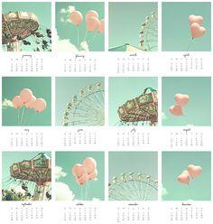 2014 Calendar, 5 x 7 or 4 x 6 by CarolineMint.