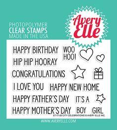 AVERY ELLE: City Celebrations Stamp