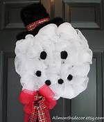 Deco Mesh Snowman Wreath - Bing Images