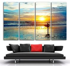 "Huge Contemporary Landscape Sunset Pier Hd Picture Prints Canvas Wall Art Framed, Oversized Sunrise Wall Art, Living Room, William. Huge Contemporary Landscape Sunset Pier Hd Picture Prints Canvas Wall Art Framed Subject : Sunrise Style : Photography Panels : 4 Detail Size : 24""x60""x4 Overall Size : 99""x60"" = 251cm x 152cm Medium : Giclee Print On Canvas Condition : Brand New Frames : Gallery wrapped Availability: *Important: This is a very large size wall art, and we are not able to ship…"
