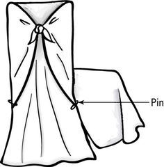 NO SEW Slip Covers For Dining Room Chairs How To Drape And Fit Material