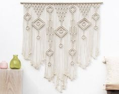 LARGE Wall Art, Macrame Wall Hanging, Over Bed Wall Art, Over Bed Decor, Wall Hanging Macrame, Wedding Backdrop, Large Macrame Wall Art
