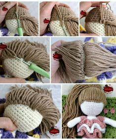 Mesmerizing Crochet an Amigurumi Rabbit Ideas. Lovely Crochet an Amigurumi Rabbit Ideas. Knitted Dolls, Crochet Dolls, Crochet Baby, Free Crochet, Knit Crochet, Knitting Dolls Hair, Crochet Stitches, Crochet Doll Pattern, Crochet Patterns Amigurumi