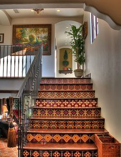 Spanish Tiled Stairs