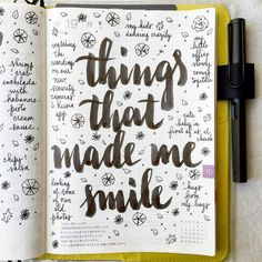 journal page idea... things that made me smile