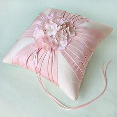 Items similar to Champagne Silk Dupioni Ring Pillow w/ Detachable Fascinator on Etsy Wedding Ring Cushion, Wedding Pillows, Cushion Ring, Ring Bearer Pillows, Ring Pillows, Classic Cushions, Flower Girl Basket, Rings For Girls, Wedding Crafts